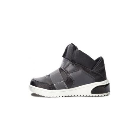 Geox Sneakersy J Xled B. A J847QA 05411 C9999 S Čierna