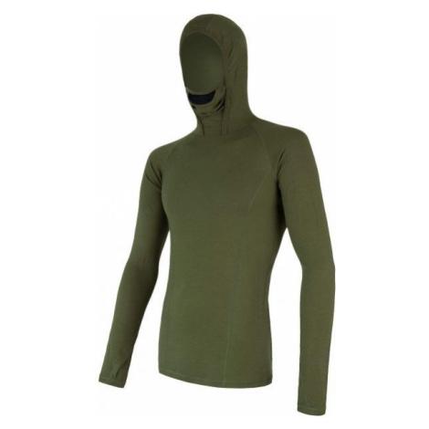 Sensor MERINO DF zelená - Pánske funkčné tričko