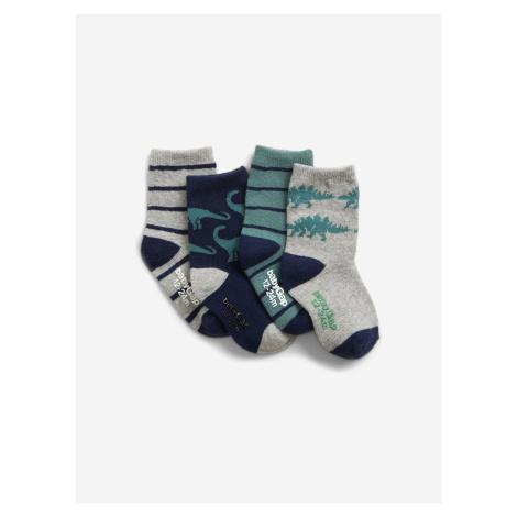 Ponožky 4 páry dětské GAP Zelená