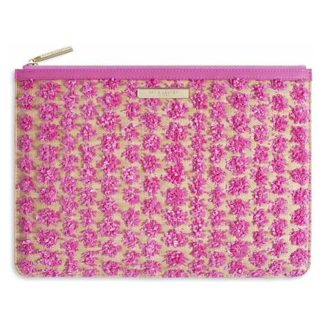Ružová listová kabelka s aplikáciou – Polly Pom Pom KATIE LOXTON