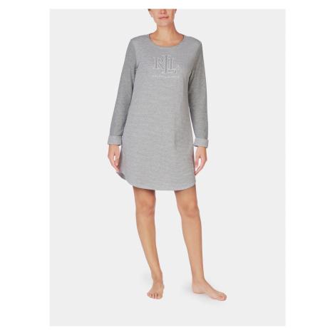 Šedá dámska nočná košeľa Lauren Ralph Lauren
