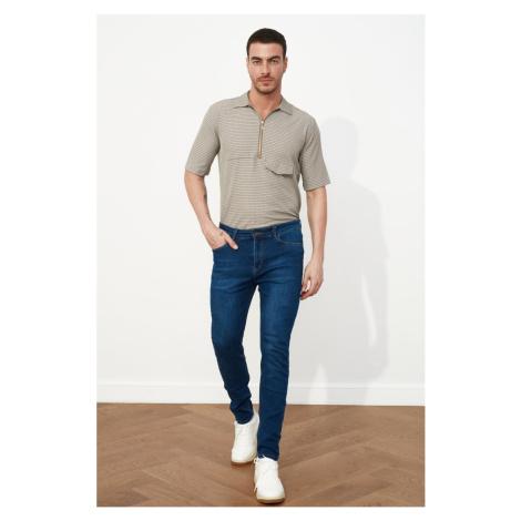 Trendyol Men's Destroyed Tapared Skinny - Jeans