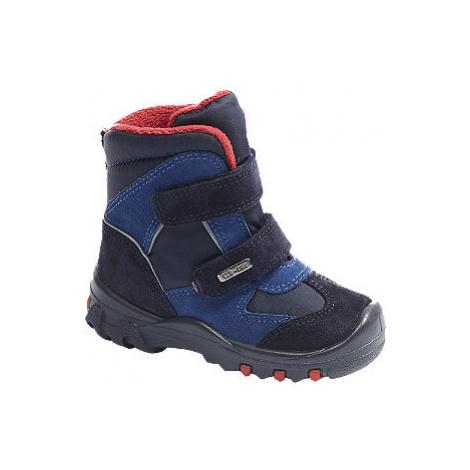 Modrá detská zimná obuv s TEX membránou Elefanten