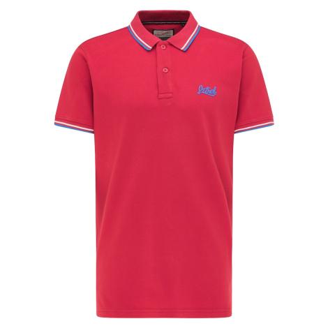 Petrol Industries Tričko  biela / svetlomodrá / tmavočervená