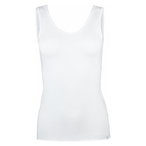 Dámske topy - Biely top - back U