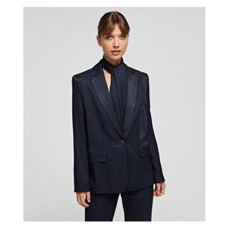 Sako Karl Lagerfeld Cameo Logo Blazer W/ Belt