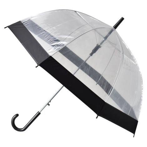 Semiline Unisex's Long Transparent Auto Open Umbrella 2507-0