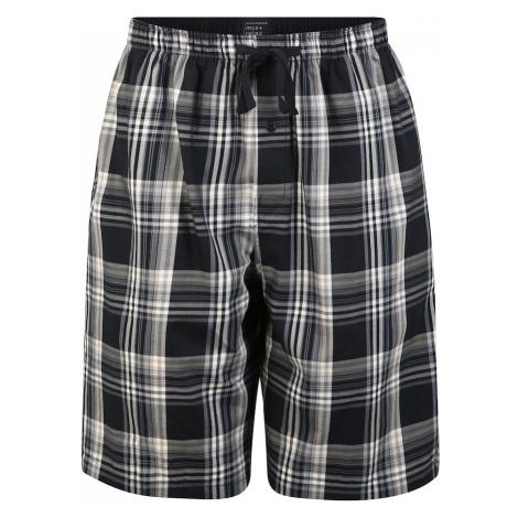 SCHIESSER Pyžamové nohavice  modrá / biela / čierna