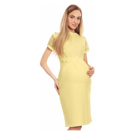 Žlté tehotenské šaty 0127 PeeKaBoo