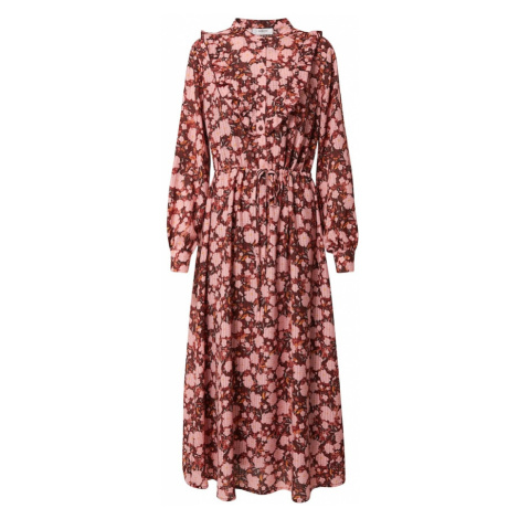 MOSS COPENHAGEN Šaty 'Frix'  ružová / vínovo červená / žltá