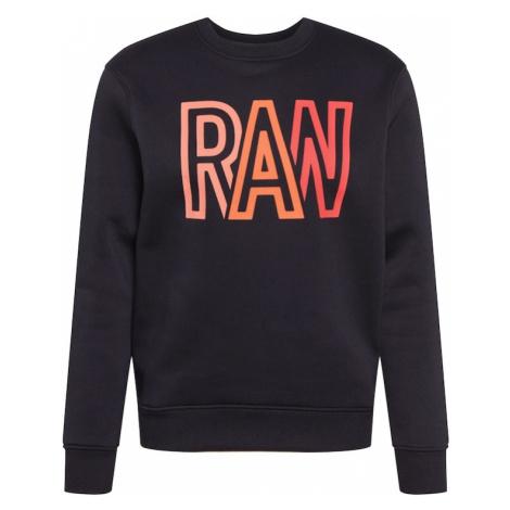 G-Star RAW Mikina  čierna / ružová / svetločervená / oranžová