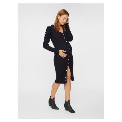 Čierne tehotenské púzdrové šaty Mama.licious Mama Licious