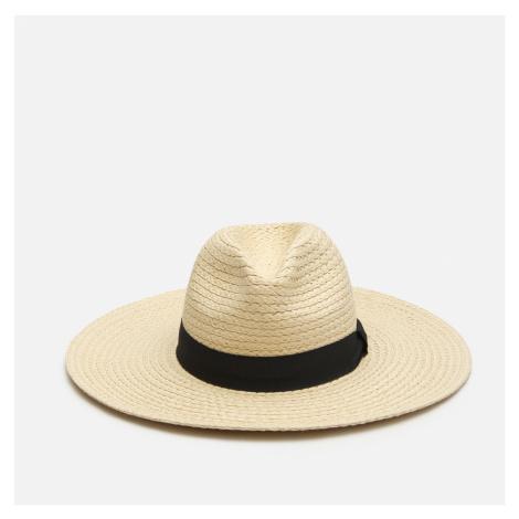 House - Slamený klobúk so stuhou - Béžová