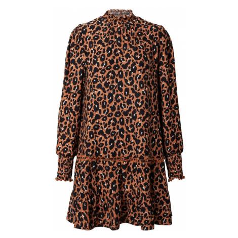 Miss Selfridge Šaty  hnedá / čierna / béžová
