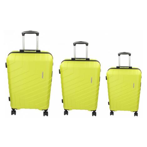 Sada 3 cestovných kufrov Marina Galanti Reno S, M, L - fosforová