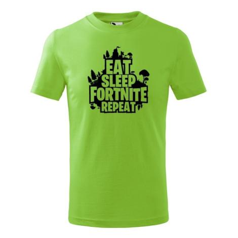Detské tričko s potlačou  Eat Sleep Fortnite Repeat