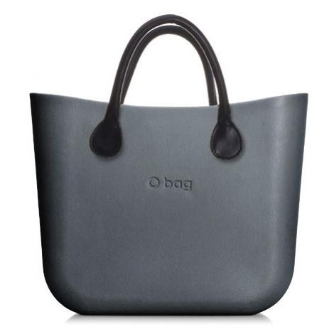 Obag mini grafite s krátkymi rúčkami koženka čierna O bag