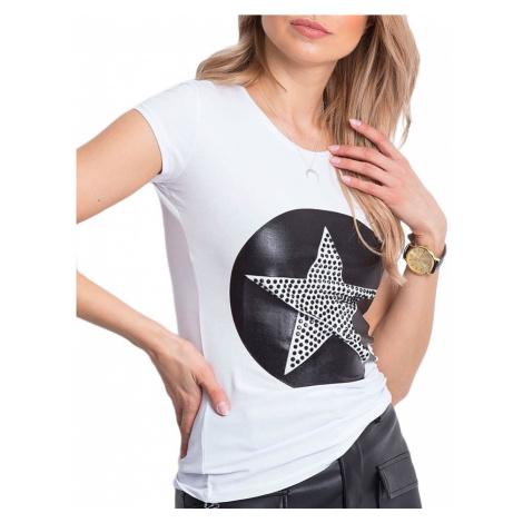 Dámske biele tričko s hviezdou