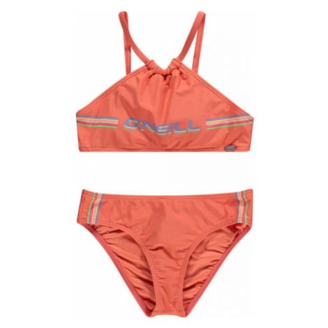 O'Neill PG CALI HOLIDAY BIKINI oranžová - Dievčenské dvojdielne plavky