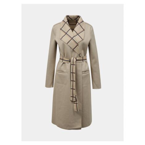 Béžový ľahký obojstranný kabát VILA Juice