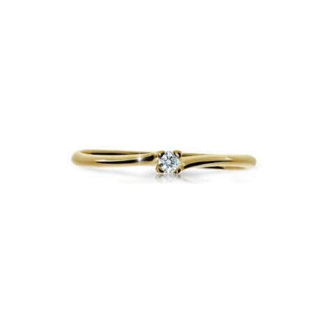 Cutie Diamonds Trblietavý prsteň zo žltého zlata s briliantom DZ6733-2948-00-X-1 mm Cutie Jewellery