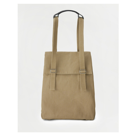 Qwstion Flap Tote Small Sand