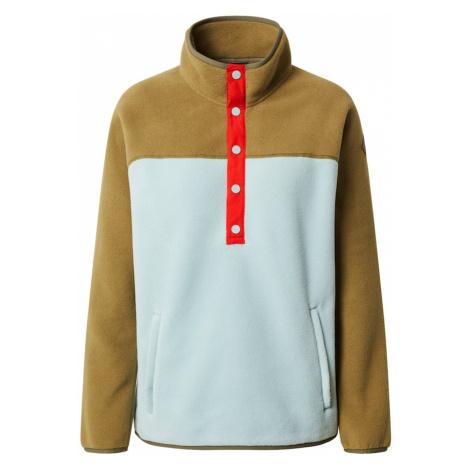 BURTON Športový sveter  červená / olivová / svetlomodrá
