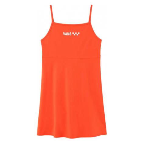 Vans Wm Meadowlark Skater Dress Grenadine-XS oranžové VN0A4DPDYEP-XS