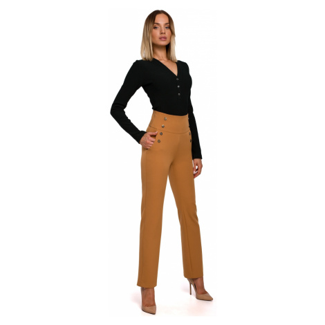 Made Of Emotion Woman's Trousers M530 Cinnamon