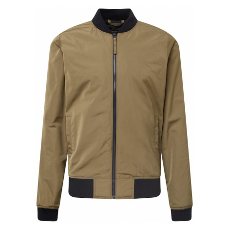 HOLLISTER Prechodná bunda  olivová / tmavomodrá