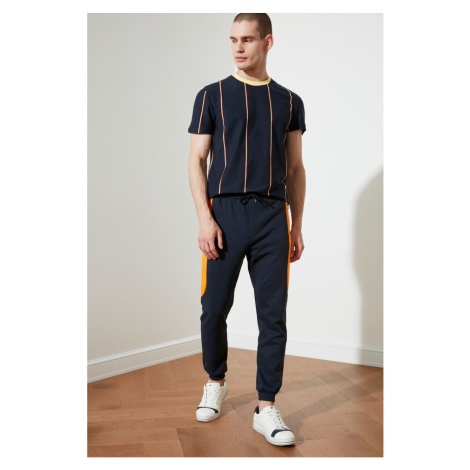 Trendyol Navy Blue Male Slim Fit Tracksuit bottom