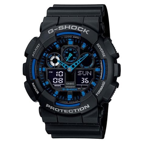 Casio G-Shock GA 100-1A2ER čierne / modré
