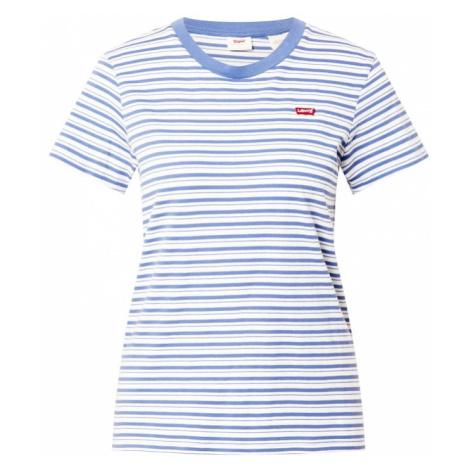 LEVI'S Tričko  biela / dymovo modrá Levi´s
