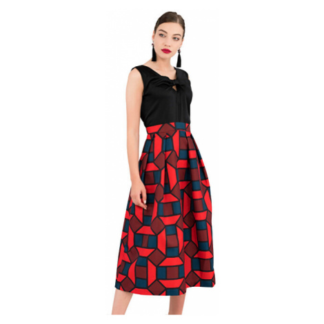 Closet London Dámske šaty Closet Gold 2-In-1 Full Skirt Dress Navy