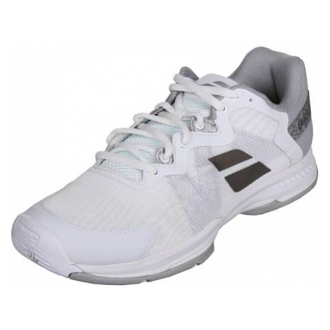 SFX3 All Court Women 2019 dámská tenisová obuv barva: bílá;velikost (obuv / ponožky): UK 6,5 Babolat