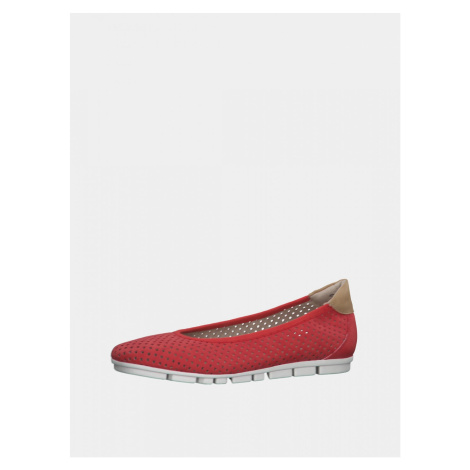 Red perforated ballerinas s.Oliver