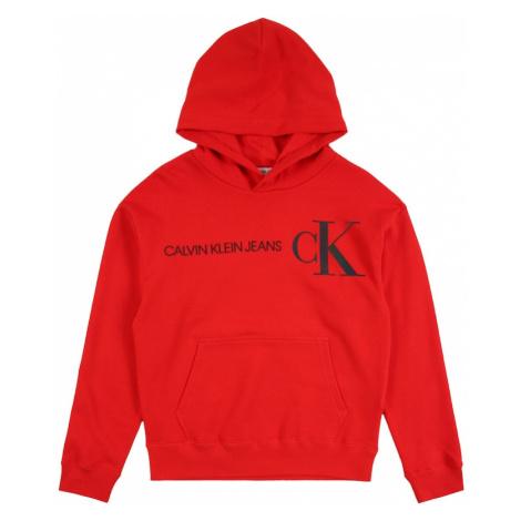 Calvin Klein Jeans Mikina  červená / námornícka modrá