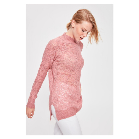 Trendyol Powder Knitted Detailed Knitwear Sweater