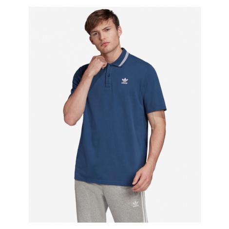 adidas Originals Trefoil Essentials Polo tričko Modrá