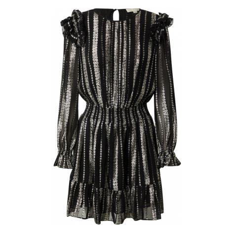 MICHAEL Michael Kors Kokteilové šaty  striebornosivá / čierna