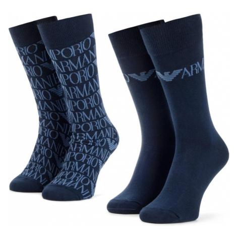 Súprava 2 párov vysokých ponožiek pánskych Emporio Armani