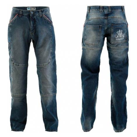 Pánske moto jeansy PMJ Boston Swot Farba modrá