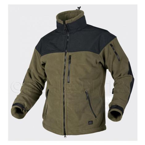 Fleecová bunda Classic Army Windblocker Helikon-Tex® - čierno-zelená-olív