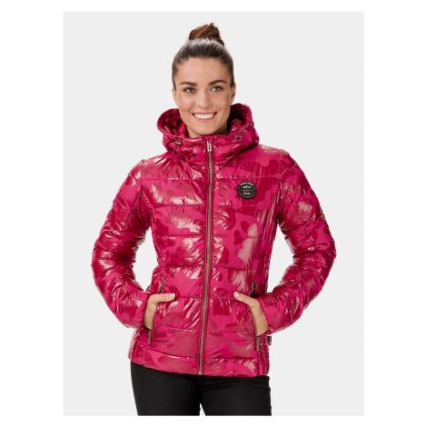 Ružová dámska prešívaná bunda SAM 73