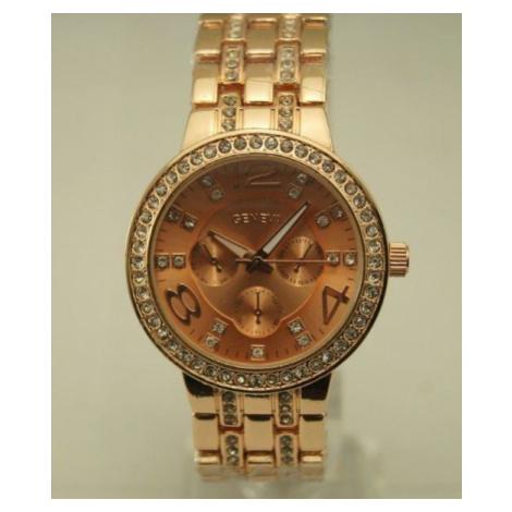 Dámske hodinky Diamond s vykladaným náramkom - zlaté Rose Go