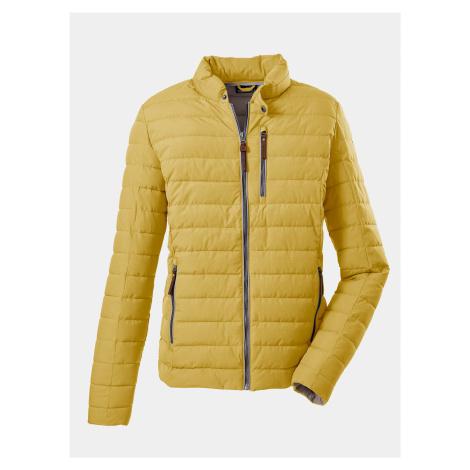 Žltá pánska prešívaná bunda killtec