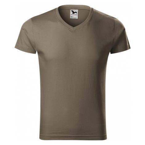 Adler (MALFINI) Pánske tričko Slim Fit V-neck