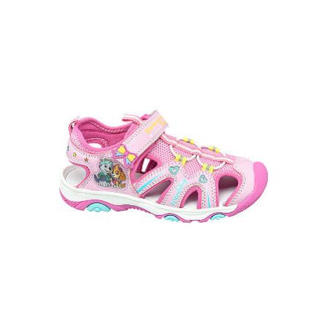 Ružové sandále na suchý zips Labková patrola