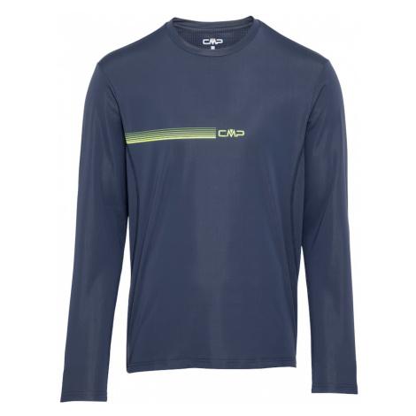 CMP Funkčné tričko  námornícka modrá / neónovo žltá
