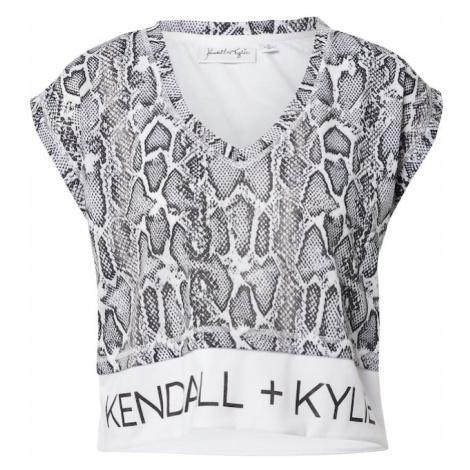 KENDALL + KYLIE Tričko  biela / čierna